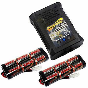 Overlander 2x 3300mah 7.2v NiMH Battery & NX-20 2A Fast Charger - RC Car Tamiya