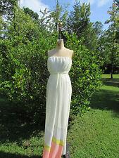 YA LOS ANGELES Multi-Print Strapless Maxi Dress-Size L