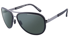 Porsche Design Sunglasses 8567 Gunmetal Black Aviator P8567-A 61mm