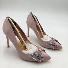Ted Baker London Womens Aselly Pump Shoes Pink Rhinestone Slim Heels 7 New