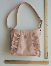 Women's KENSIE BLUSH PINK Purse LACE RUFFLE Ladies Shoulder Hand Bag FLASH SALE