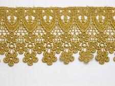 "Venise Lace 3 1/2"" (89mm) Metallic Gold 3 Yards"