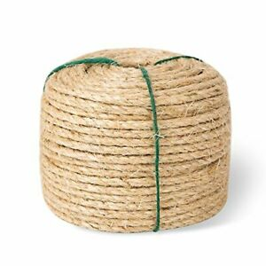 Yangbaga Cat Scratching Post Replacement Sisal Rope for Cats 1/4 inch Diame...