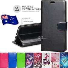 For LG Q6 G6 K4 K8 K10 2017 PU Wallet Leather Flip Case Cover Card pocket Stand