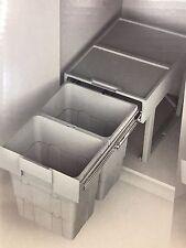 Ninka WasteBoy® space saving pull out waste bin(2 x 16 litre bins)(503.74.523)