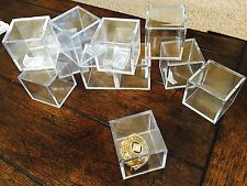 LOT 2 Two World Series Championship Ring Display Cubes w/ Ring Stand Clips