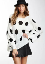 Wildfox White Label Polka Dot It Pfeiffer Jumper Sweater M $298