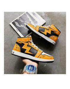 Demon Slayer High top 3D Flat shoes Agatsuma Zenitsu Casual Sneakers Shoes