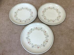 Dinner plates x 3 BHS Country Garland fairly good condition but well used