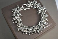 SILPADA Cha Cha .925 Sterling Silver Ball Bead Toggle Clasp Bracelet B0919 SHINY