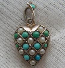 Turquoise Silver Pendant/Locket Victorian Fine Jewellery