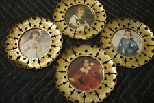 Vintage Retro Lot 4 Gold Tone Butterfly Pinky Blue Boy Child Framed Pictures 221