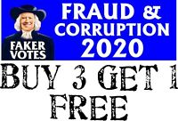 "SLEEPY JOE BIDEN BUMPER STICKER Fraud & Corruption Bumper Sticker 8.7"" x 3"""