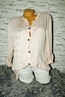 Italy Shirt Hemd Tunika Bluse Gr. 36 38 40 42 rosa Vintage blogger Schrift Neu