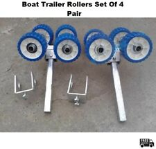 Trailer Rollers Set Of Four PAIR - Boat - Universal - Galvanised - COMPLETE KIT
