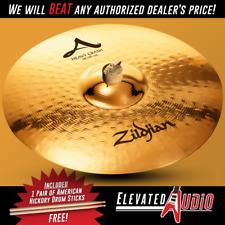 "Zildjian A 18"" Heavy Crash Cymbal + FREE American Hickory Drum Sticks!"