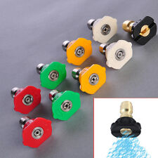 Power Pressure Washer Spray Nozzle Tip Quick Disconnect Fittings 1/4 Coupler