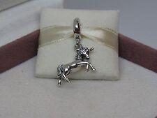 New w/Box Pandora Sterling Silver Unicorn Dangle Charm #791200