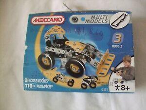 Complete Meccano 2520 Multi Models 110 Parts 2009