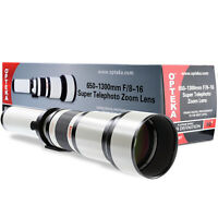 Opteka 650-1300mm Telephoto Zoom Lens for Canon EOS EF Mount DSLR Cameras