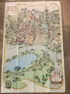 Vintage 1980, 20th year, Six Flags Over Texas park map