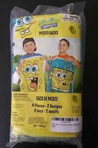 SpongeBob Squarepants Birthday Party Potato Sack Game (4 Pack) 2 Designs New
