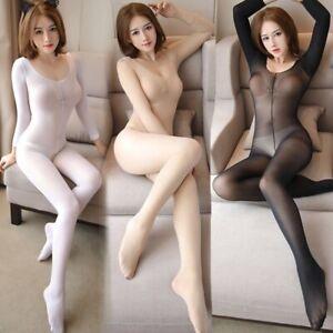 Plus Size Adult Women Sexy Lingerie Bodysuit Bodystockings Underwear Sleepwear