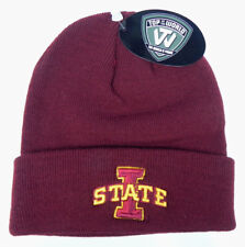 3ef0ad7f914 IOWA ST. STATE CYCLONES NCAA BEANIE TOP OF THE WORLD SIMPLE KNIT CAP HAT NWT