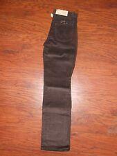 "Girls 70s Vintage Wrangler Cords Corduroy Pants Jeans 14 Slim 25"" Waist Brown"
