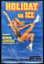 OKLEY : HOLIDAY ON ICE : AFFICHE ORIGINALE 100 x 150cm / Robin Cousins