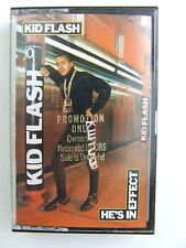 Kid Flash He's In Effect RARE PROMO Cassette Tape 1988 Rap Hip Hop Tabu CBS