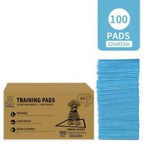 100 - Dog Puppy 22x22 Pet Housebreaking Pad, Pee Training Pads, Underpads