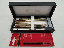 Pierre Cardin 4pc Gold-Tone Pen & Pencil Box Set