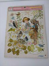 Whitman Frame-Tray Puzzle Fresh Flowers 1975 Giordano Design Children in Woods