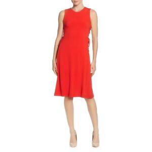 T Tahari Womens Sleeveless Lace-Up Jersey Midi Dress BHFO 6273