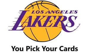 You Pick Your Cards - Los Angeles Lakers Team - NBA Basketball Card Selection 🏀