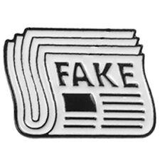 Newspaper Enamel Pin Fake News Took Drunk Brooch Bag Clothes Lapel Pin Butt