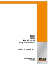 Case Forklift 586H, 588H Tier 4 Workshop Service Manual