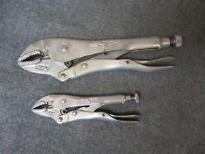 2 - Vintage Petersen Dewitt Vise Grips 10WR & 5WR Clamp Locking Pliers USA