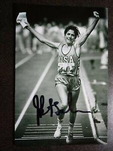 JOAN BENOIT SAMUELSON Hand Signed Autograph 4X6 Photo - OLYMPIC GOLD RUNNER 1984