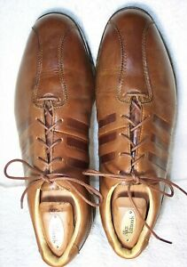 Adidas Adipure Z sz 10 Brown Leather Bicycle Toe Golf Shoes