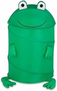 Honey-Can-Do Kid's Pop-Up Clothes Laundry Hamper Yellow Lion or Green Frog