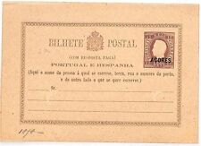 Vv173 1878 Portugal Colonies *Azores* Unused King Luis Card {samwells-covers}