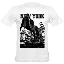 Urban Shaolin Men's Kung Fu In NY Bruce Lee, Jackie Chan, Fitted t Shirt, White