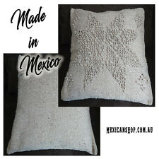 Cushion Cover, 46x47cm, 100% Cotton, Natural colour, with zipper, made in Mexico