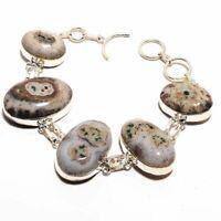 Solar Quartz Ethnic Jewelry Handmade Bracelet 31 Gms BB-2560