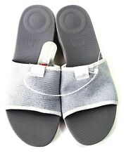 FitFlop Womens 08 Urban White Silver Uberknit Slide SandalFitFlop's Superlight