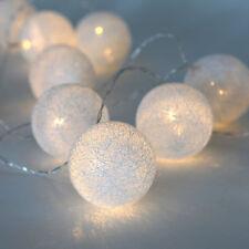 16.5 Ft. Decorative Novelty Warm White 30 LED Globe Battery String Lights Timer