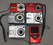 Lot of 6 Kodak Digital Cameras For Parts/Repair - Sold As-Is *Fast Free Ship*C03