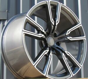 21 inch 4 Alloy wheels fits BMW X5 X6 E70 E71 F15 F16 747 style 5x120 4 rims set